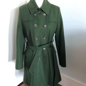 DKNY Green Wool Blend Coat